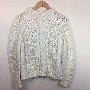 White mock neck sweater ~ Size Medium